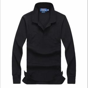 2019 Nova PP52359 Homens outono camisas respirável Algodão Polo Men manga comprida Casual Camiseta Masculinas Polos camisola