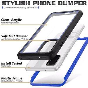 Для Samsung Galaxy S20 Plus S20 Ультра S10e S10 5G противоударный Hybrid TPU + PC Hard Case Доспех Defender Clear двухтональный Телефон крышки кожи 50шт