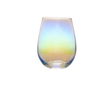 Verre sans plomb 20 onces sans cristal Coquetier vin Tumbler moderne de grande capacité Ion-plaqué Rainbow Room Transparent Living Craft Ménage EEA1290-3