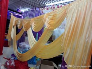 6m genişliğinde swags düğün stilist arka Parti Perde perdeler Kutlama Sahne Performansı Arkaplan Saten Örtü duvar DRAPS tasarımlar