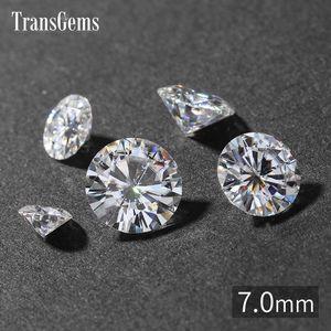 TransGems 7 мм 1.2 карата GH Color Certified Лаборатория Grown Diamond Муассанит Loose Bead Test положительный, как настоящий алмаз драгоценный камень