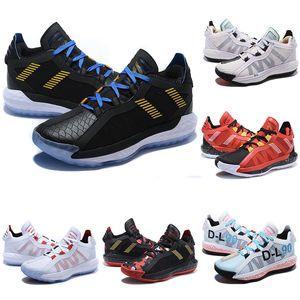 2020 Yeni Damian Lillard Süet Dame 6S 6 6 Bruce Lee Basketbol Ayakkabı VI Erkek Ayakkabı Spor Eğitmenler Spor ayakkabılar 40-46