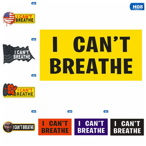 I can't Breathe Sticker Self-Adhesive Sticker Creative PVC Car Sticker Suitable For Clothes Cars Laptops Wall Decorative Stickers GGA3451-2