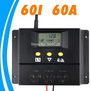 Freeshipping 60A 12V Солнечный контроллер 24V панель Контроллер заряда батареи Солнечная домашняя система внутреннего использования ЖК-дисплей 60 Amps Солнечный контроллер заряда