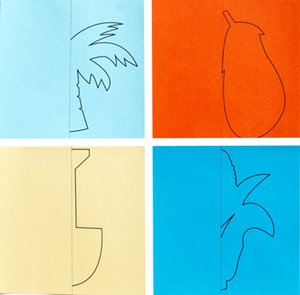96pcs / set Kinder nette Karikatur Farbe Papier falten und Schneiden Spielzeug Kinder Kingergarden Kunsthandwerk DIY Lernspielzeug