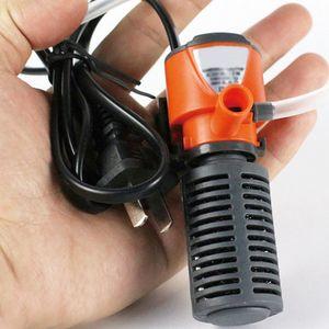 3 в 1 бесшумный аквариумный фильтр погружной кислородный внутренний насос губчатая вода с дождевым распылителем для аквариума увеличение воздуха 3/5 Вт новое продвижение