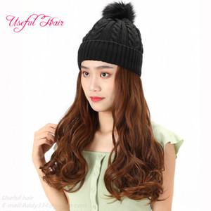 Салон парики Hat cap зима животных CAP парик bonnet de designer 2020 мода вязаные шерстяные шапки для волос шерстяные шапки для девочек синтетические волосы
