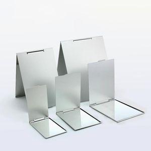 Ultra ince Makyaj Ayna Makyaj Ayna Kozmetik 5. Boyutları Yukarı Cep Gümüş Dikdörtgen Katlanabilir Kompakt Makyaj Katlama Aynalar olun