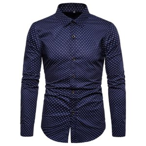 Dropshipping NEGIZBER Brand Quality 100% Cotton Shirt Men Solid Slim Fit Long Sleeve Shirts Casual Print Male Shirts