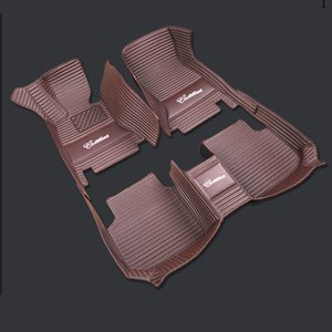 도요타 프라도 하이랜더 TERIOS 크라운 REIZ 캠리 코롤라 EX 레빈 VIOS 야리스 리터 럭셔리 자동차 매트에 대한 고급 사용자 정의 자동차 바닥 매트와 자동차 로고
