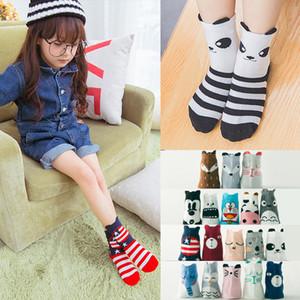 Bebés Meninas dos desenhos animados Meias Crianças Meninos Animais padrão impresso mediana Socks Tubo cor sólida meias de algodão Unisex 43