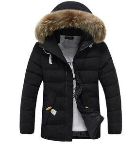 jaqueta de Hot Sale Marca Men Parkas Hoodies Sólidos Brasão Cor Parker Down Jacket Men Outdoor Sports frios mornos Down Jacket