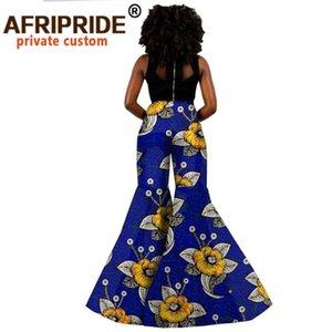 African Wax Cotton Pants for Women Customized Wide Leg Flare Women Cotton Pants A2021001