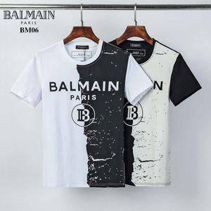 2020ss лето высокое качество хлопка мужская футболка роскошные O-образным вырезом Женская футболка с коротким рукавом топ печати футболка размер M-3XL y331