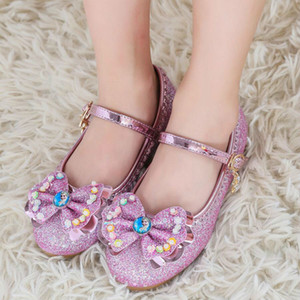 Best New Children Princess Sandals Dress Shoes For Girl Butterfly Flat Heels Fille Sandal Baby Girl Casual Shoes Size 24-35