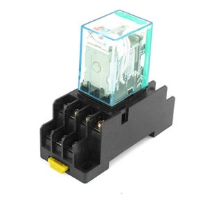 12V DC   24V DC Coil 4PDT Plug-in Mini Power Relay MY4NJ HH54P-L 14 Pins w DYF14A Base Socket