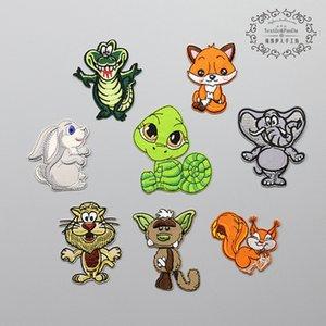 20191003 animali del fumetto, stoffa, lo scoiattolo, il coniglio, abbigliamento per bambini, ricamo, ricamo, stiratura.