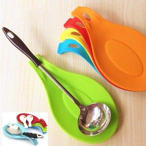 Tabella silicone decorazioni di isolamento resistente al calore Spoon resto l'attrezzo della cucina cucchiaio Pad Mangi Mat gadget da cucina del piatto Spatola