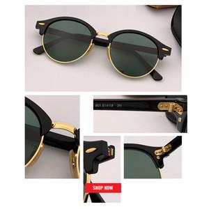 جديد ريترو خمر الكلاسيكية جولة نظارات شمسية رجالية دائرة العلامة التجارية مصمم النظارات الشمسية النساء 4246 أعلى جودة العدسة الخضراء نظارات لتعليم قيادة السيارات