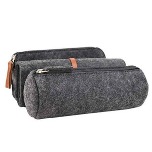 Pencil Box Zipper Pencil bag Felt Fabric Portable School Office Supplies Coin Purse Stationery Makeup Bags