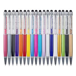 Pluma cristalina de útiles escolares de oficina metálicos lápiz de escritura capacitancia punta de un lápiz de diamante toque del balón pantalla