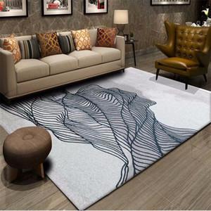 Accueil décoratifs Mode Netted Tapis de chevet Tapis de sol Sofa Petits tapis Nordic Soft Style Flanelle Grand Salon Tapis Tapis