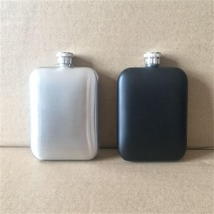 6 oz Kare Flagon Paslanmaz Çelik Açık Havada Hip Flask Taşınabilir Elektrolizle Eko Dostu Şarap Pot Siyah Gümüş Renk Ile 16 5kc J1