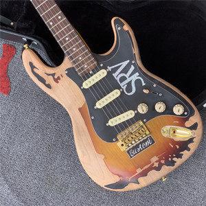 Бесплатная доставка редкий 1961 RO Gallagher Tribute St Strat Ocaster Heavy Relic 3 тон Sunburst Electric Guitar Alder Body Aged Pickguard Tremol