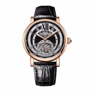 Reef Tiger / RT Casual de lujo para la correa de cuero genuino de oro rosa Tourbillon hombres automáticos relojes moda RGA192 C19010401