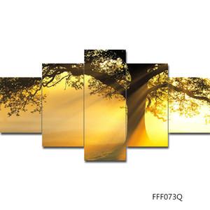 لوحات على جدار غرفة المعيشة 5 قطعة قماش قماش الفن جدار الفن ملصقات ومطبوعات الطلاء بواسطة أرقام اللوحة اليدويه