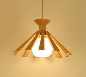 Balcon en bois Pendentif Lampes style japonais salle à manger Chambre Pendentif Lampe suspension Hall d'entrée MYY