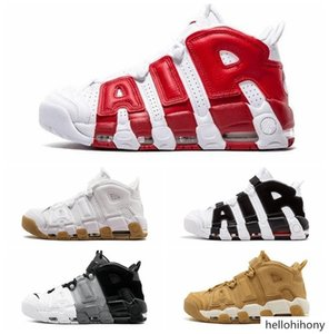 More uptempo mens basketball shoes 2018 new Pippen shoes high quality women sneaker trainers black blue green white red wheat