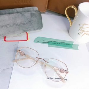 2020 Super-exqusite mulheres sem aro decoração diamante óculos de ponta muti em forma de óculos de armação para prescrição de óculos embalagem fullset