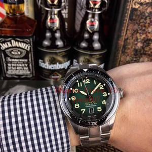 2020 Горячие desingers Мужские часы высокого качества Autavia WBE5110 автоподзаводом Циферблат 42мм двунаправленного вращающееся кольцо сталь ремешок