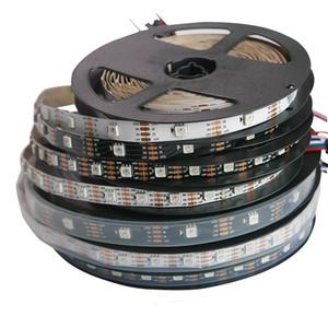 DC5V WS2813 Pixel LED Strip Black PCB SMD 5050 30 60 144leds Addressable RGB LED Strip