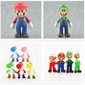 Alta Qualidade Novo 9 estilo Presentes Luigi Bros Luigi Yoshi Action Figure Toy para a criança 12 centímetros NOAF004