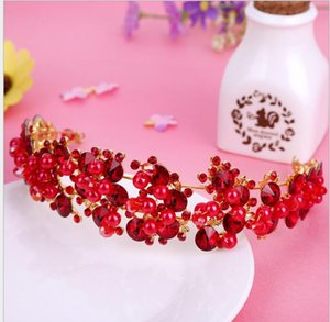 Crown Jewellery of Bride Crown Headwear Handmade coreano Pearl Drill Crown Gioielli Hair Belt Wedding Headwear Gioielli