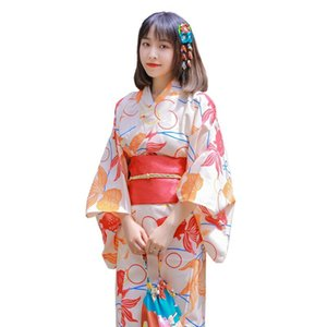 Sıcak Satış Japon Giyim Kadınlar Orijinal Elbise Standart Geleneksel Kimono Dans Kostümleri Bir Boyut Kiraz güzellik Kimono Robe