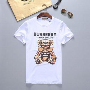 Yeni 2019 Erkek Yaz Tees Artı boyutu Kısa Kollu T Shirt Süt Baskılı Pamuk Tişört 3D Tasarımcı Giyim M-XXXL Golf Tişörtü # 71