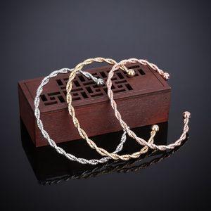 Fashion Double Twisted Exquisite Bracelet Joker Ball Scrub Luxury Open Bracelet Jewelry Male Female Bracelet Jewelry
