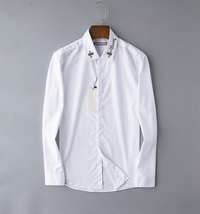 2020 uomini di lusso camicie da uomo Slim Plaid Business Designer camicia di colore solido Estate Uomo Lattice Camicie maniche lunghe camicetta camicia delle parti superiori