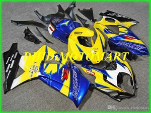 Injection mold Fairing kit for SUZUKI GSXR1000 K7 07 08 GSXR 1000 2007 2008 ABS Yellow blue Fairings set+gifts SBC03