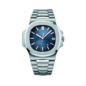 Классические модные мужские часы PP Nautilus 5711 серии автоматические механические часы 40 мм сапфировый квадратный циферблат бабочка пряжка часы из нержавеющей стали