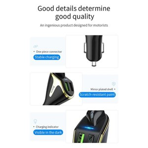 Hoco E47 2 in 1 Dual USB Port Car Charger Wireless Bluetooth Earphone With Mic Support Dropshipping