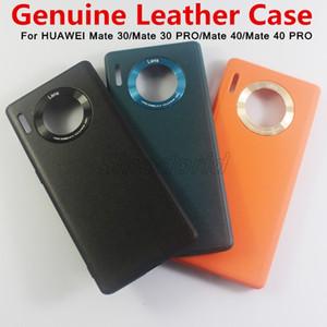 Capa para HUAWEI Companheiro 30 30 Pro telefone celular de protecção à prova de choque Voltar cobrir Genuine cobre caso de couro para Huawei Companheiro 40 40 Pro