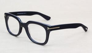 Gafas de marca Hombres y mujeres T5179 Moda Prescripción Acetato Frame Big Frame Spectacle Optical Lentes con estuche