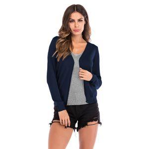 Automne 2019 Femmes Gilet col V Pull à manches longues Veste Manteau Argent Mode mousseux Tricots Femmes
