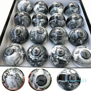 Wholesale-2018 Latest 57.25mm Marple+resin Billiard Pool Balls 16pcs complete set of Balls High quality Billiard accessories China