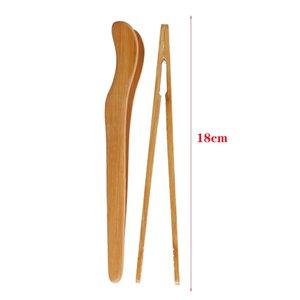 Utensil Pişirme 2019New 1pc 18x3cm Ahşap Bambu Cımbız Gadget Tong Gıda Tost Bacon Şeker Çay Maşa Salata Klip Mutfak Aracı