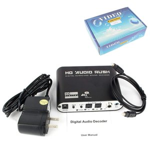 SPDIF óptica 3,5 AUX coaxial digital para analógico 6 RCA HD Áudio do Rush 5,1 Decoder AC3 DTS Dolby Surround Sound Amplificador Converter